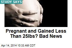 Pregnant and Gained Less Than 25lbs? Bad News