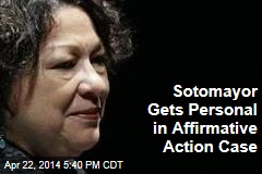 Sotomayor Gets Personal in Affirmative Action Case