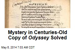 Mystery in Centuries-Old Copy of Odyssey Solved