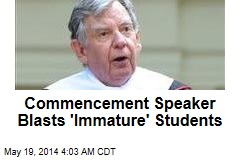 Commencement Speaker Blasts 'Immature' Students