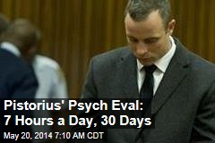 Pistorius' Psych Eval: 7 Hours a Day, 30 Days
