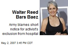 Walter Reed Bars Baez