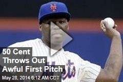 50 Cent Throws Out Awful First Pitch