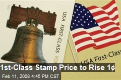 1st-Class Stamp Price to Rise 1¢