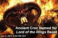 Ancient Croc Named for Lord of the Rings Beast