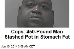 Cops: 450-Pound Suspect Stashed Pot in Stomach Fat