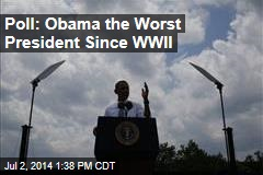 Poll: Obama the Worst President Since WWII