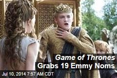 Game of Thrones Grabs 19 Emmy Noms
