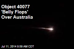 Object 40077 'Belly Flops' Over Australia