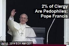 2% of Clergy Are Pedophiles: Pope Francis