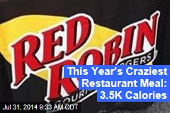 This Year's Craziest Restaurant Meal: 3.5K Calories