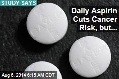 Daily Aspirin Cuts Cancer Risk, but...