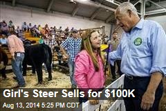 Girl's Steer Sells for $100K