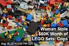 Woman Stole $60K Worth of Legos: Cops