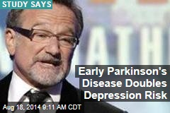 Early Parkinson's Disease Doubles Depression Risk