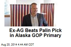 Ex-AG Beats Palin Pick in Alaska GOP Primary