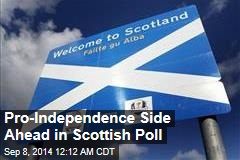 Pro-Independence Side Ahead in Scottish Poll
