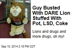 Guy Busted With DARE Lion Stuffed With Pot, LSD, Coke