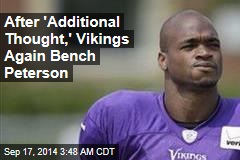 Team Does U-Turn, Benches Peterson