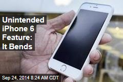 Unintended iPhone 6 Feature: It Bends