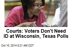 Courts: Voters Don't Need ID at Wisconsin, Texas Polls