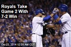 Royals Take Game 2 With 7-2 Win