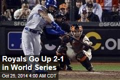 Royals Go Up 2-1 in World Series