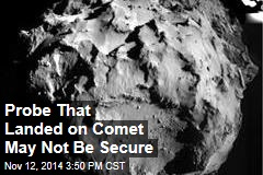 Probe That Landed on Comet May Not Be Secure