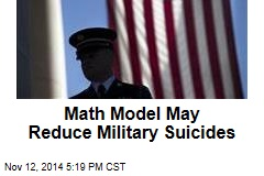 Math Model May Reduce Military Suicides