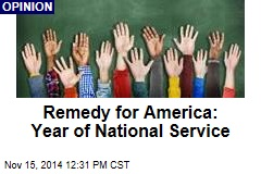 Remedy for America: Year of National Service