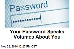 Your Password Speaks Volumes About You
