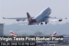 Virgin Tests First Biofuel Plane