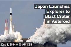 Japan Launches Explorer to Blast Crater in Asteroid
