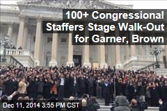 Congressional Staffers Stage Walk-Out for Garner, Brown