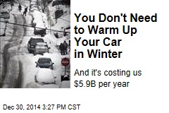 You Don't Need to Warm Up Your Car in Winter