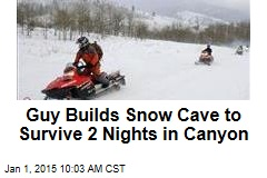 Guy Builds Snow Cave to Survive 2 Nights in Canyon