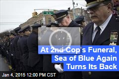 At 2nd Cop's Funeral, Sea of Blue Again Turns Its Back