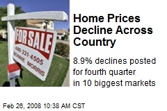 Home Prices Decline Across Country
