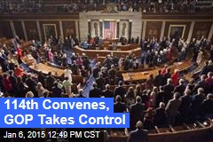 114th Convenes, GOP Takes Control