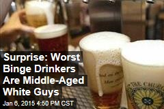 Surprise: Worst Binge Drinkers Are Middle-Aged White Guys