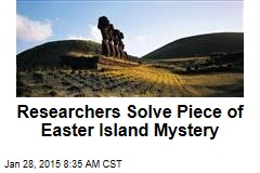Researchers Solve Piece of Easter Island Mystery