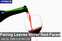 Pairing Leaves Writer Red-Faced