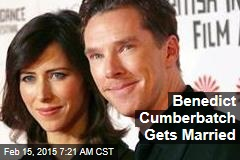 Benedict Cumberbatch Gets Married
