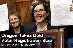 Oregon Takes Bold Voter Registration Step