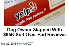 Dog Owner Slapped With $65K Suit Over Bad Reviews
