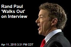 Rand Paul 'Walks Out' on Interview