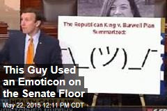 This Guy Used an Emoticon on the Senate Floor