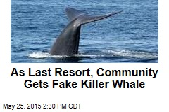As Last Resort, Community Gets Fake Killer Whale