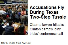 Accusations Fly During Texas Two-Step Tussle