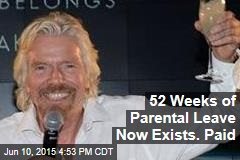52 Weeks of Parental Leave Now Exists. Paid